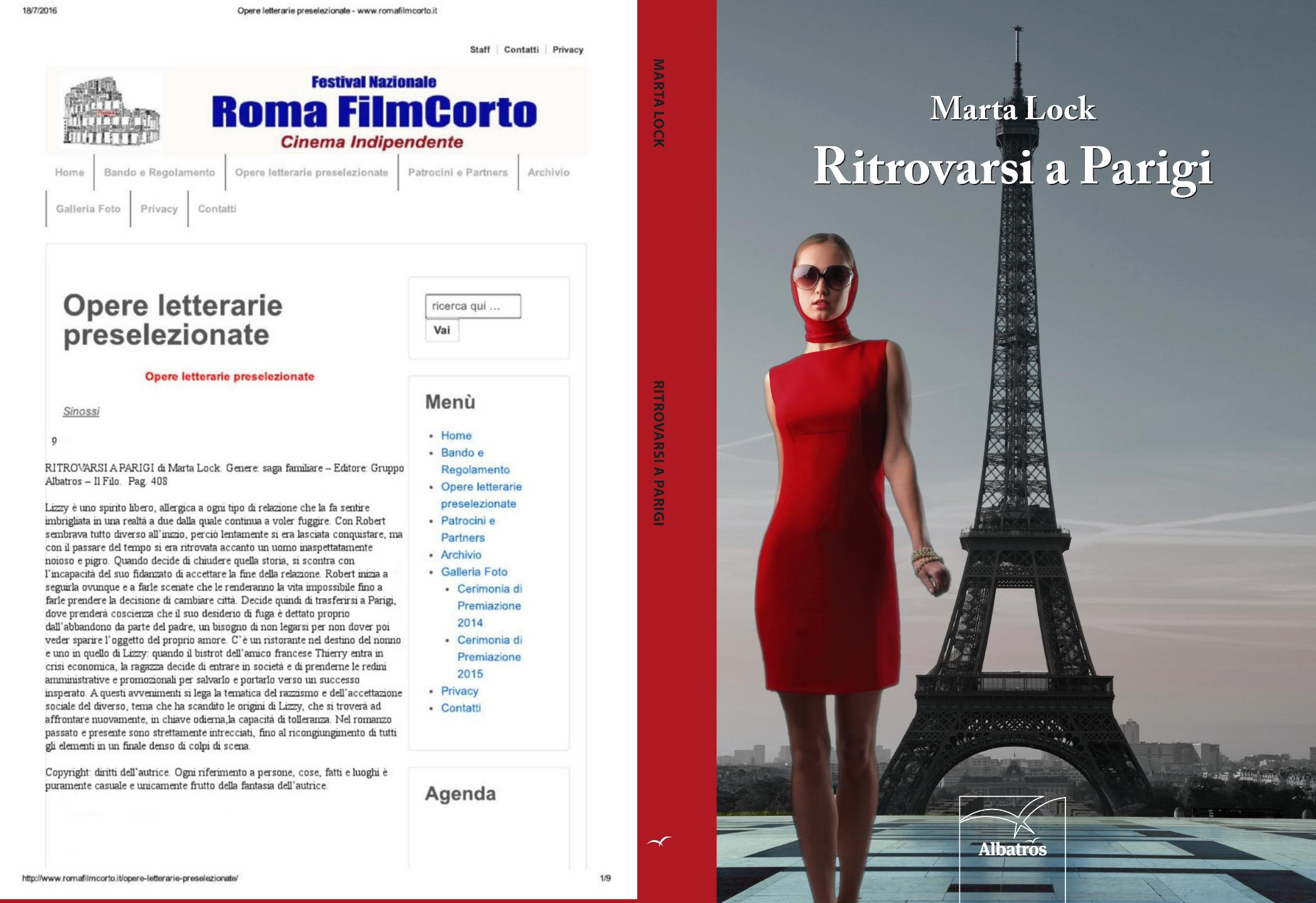 Ritrovarsi a Parigi al Roma Film Corto !!