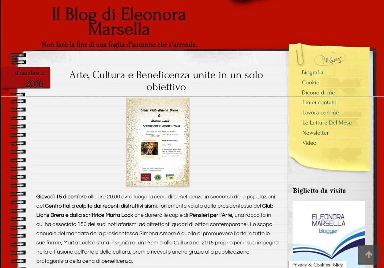 Il blog di Eleonora Marsella