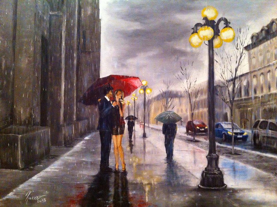 L'Angolo di Marta Lock: Fausto Nazer, quando la pioggia diventa cornice