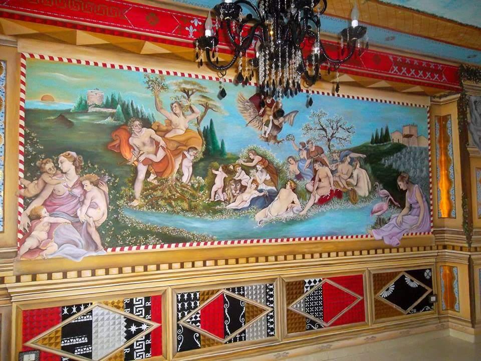 L'Angolo di Marta Lock: Gli affreschi di Mariella Ricca, quando l'arte diventa complemento d'arredo