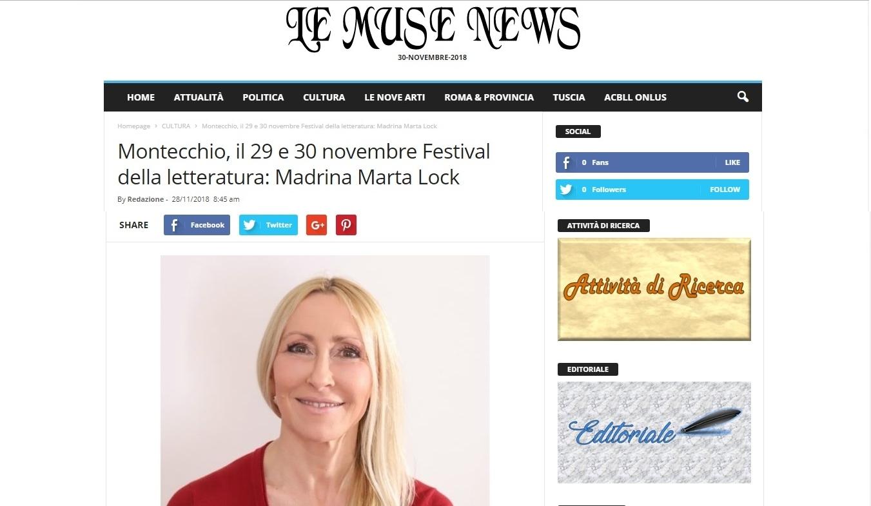 Articolo Le Muse News 30-11-18