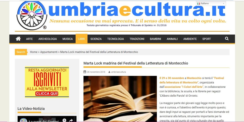 Articolo Umbria e Cultura 28-11-18