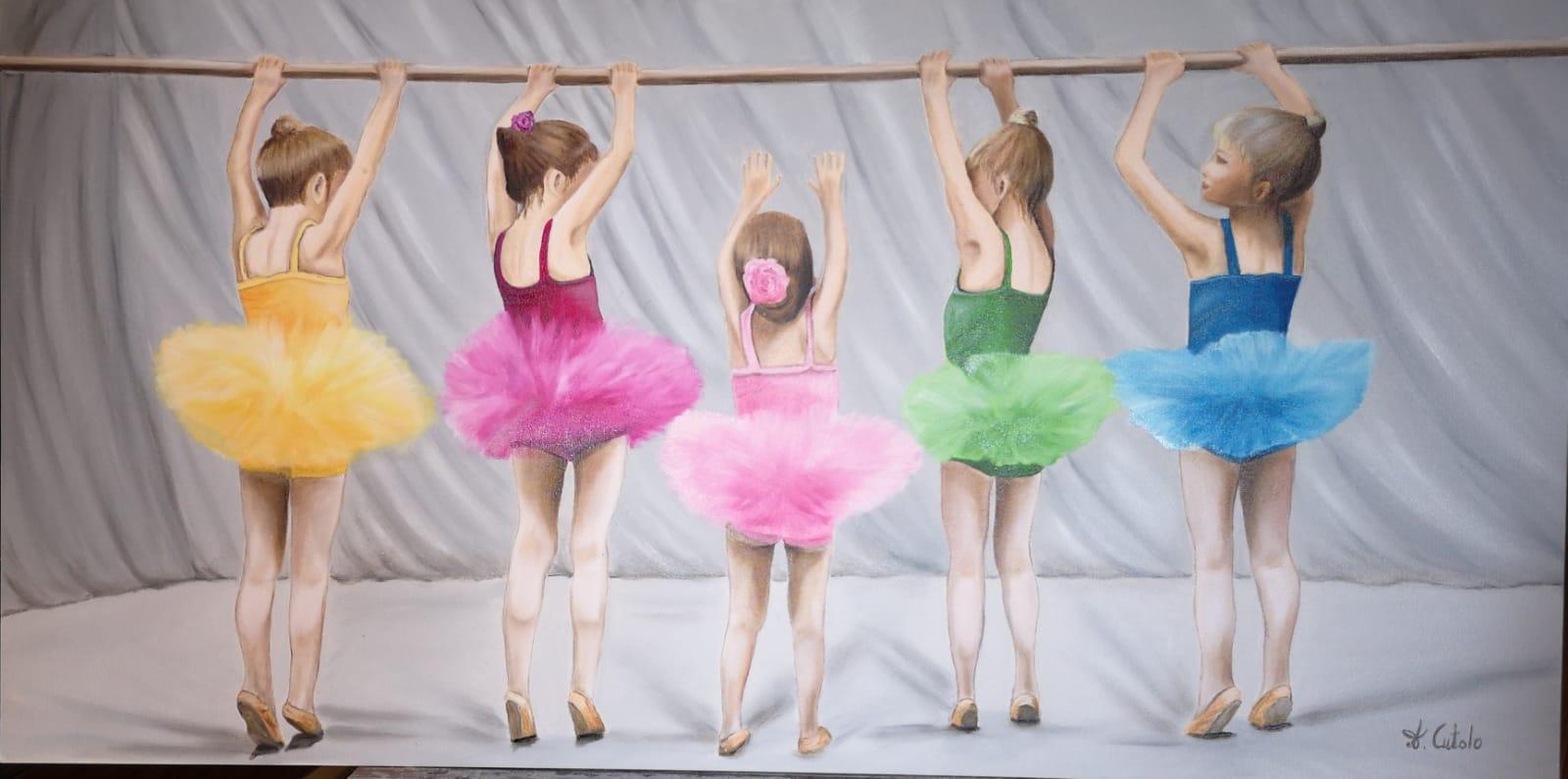 L'Angolo di Marta Lock: Musicalità e leggerezza del ballo nelle opere Neorealiste di Angela Cutolo