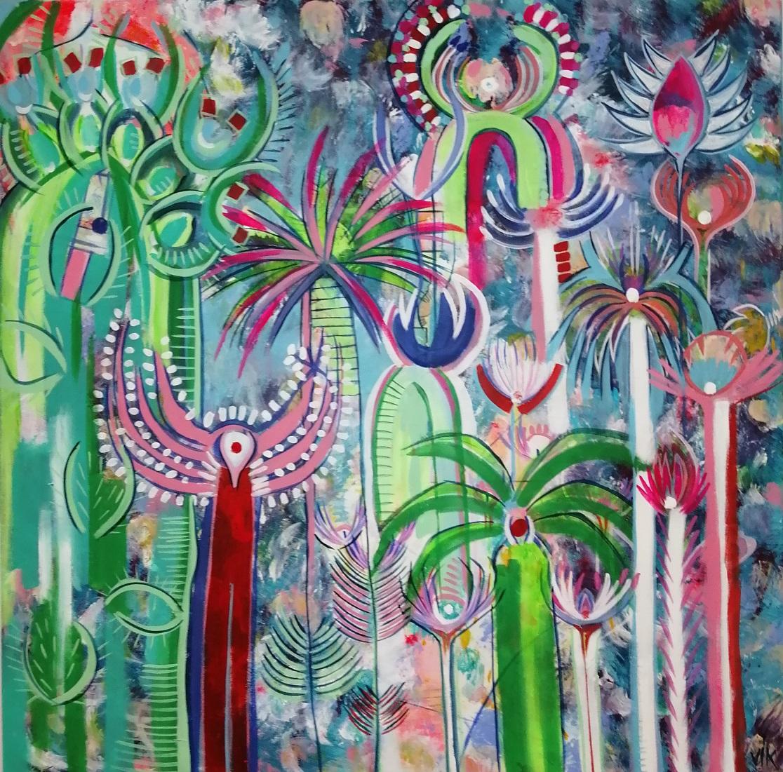 L'Angolo di Marta Lock (IE): Le opere colorate di Vik, tra graffitismo e atmosfere etniche per racco