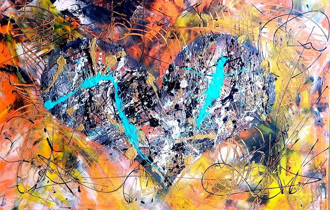 L'Angolo di Marta Lock (IE): L'energia travolgente e vivace dell'Espressionismo Astratto di Stefan F