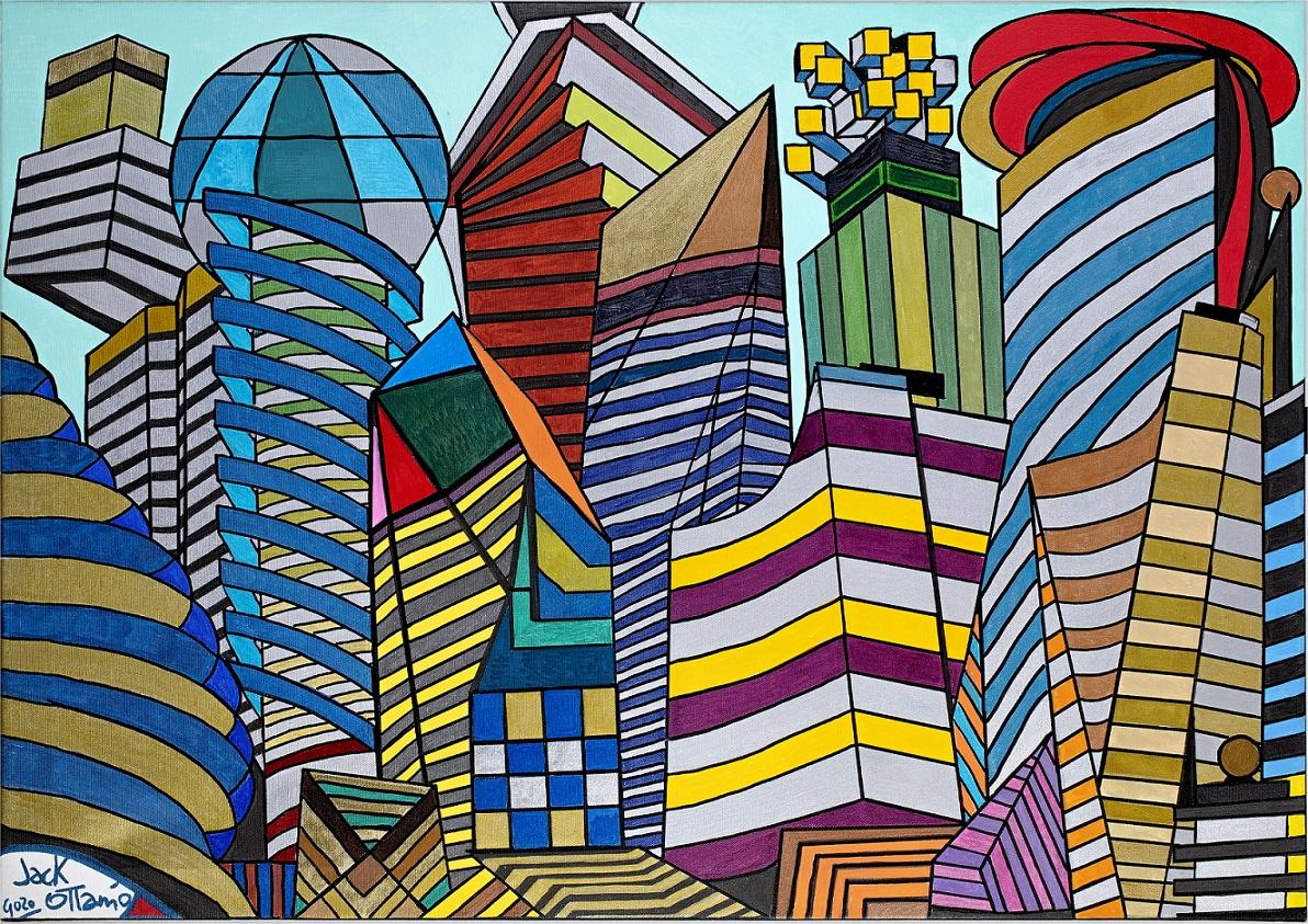 L'Angolo di Marta Lock: Il mondo colorato di Jack Ottanio, tra visioni Pop e scorci geometricamente